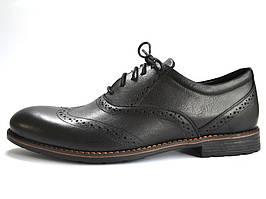 Туфлі чоловічі шкіряні чорні броги взуття класична Rosso Avangard Felicete Uomo Black Pelle