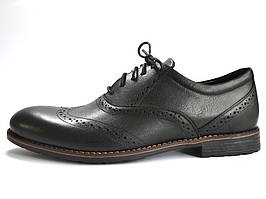 Туфли мужские кожаные черные броги обувь классическая Rosso Avangard Felicete Uomo Black Pelle