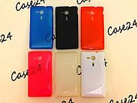 Чехол накладка Duotone для Sony Xperia SP C5303 (6 цветов)