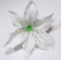 Головка лилии 14 см, белая