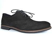 Большой размер. Туфли броги мужские нубук Rosso Avangard BS Felicete Persona Vel черные