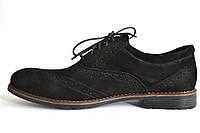 Туфлі броги нубук чоловіче взуття великих розмірів Rosso Avangard BS Felicete Persona Vel чорні, фото 1