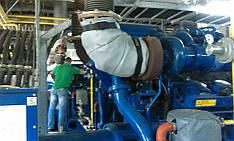 Монтаж термочехлов производства компании КомпенсМАШ не составляет труда благодаря различным узлам крепления.