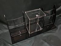 Поддон с ящиком и буклетницами А4 формата