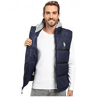РАСПРОДАЖА! Жилетка U.S. POLO ASSN. Basic Puffer Vest with Fleece Hood