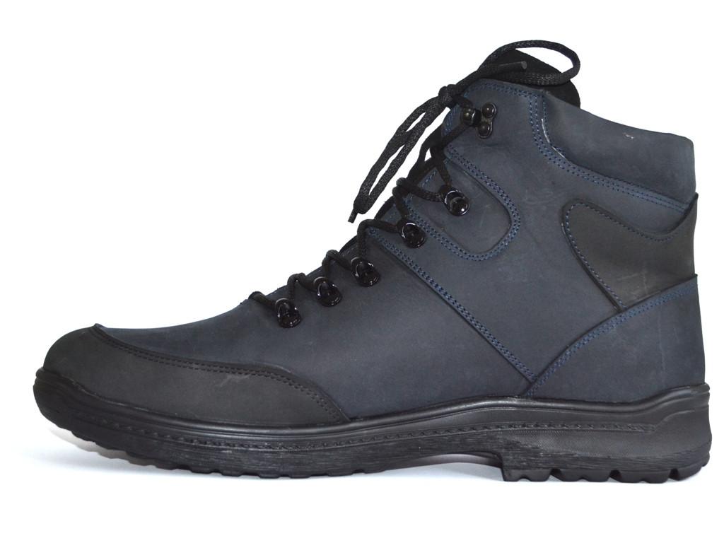 Великі розміри шкіряні зимові чоловічі черевики Rosso Avangard BS Lomerback Blu сині
