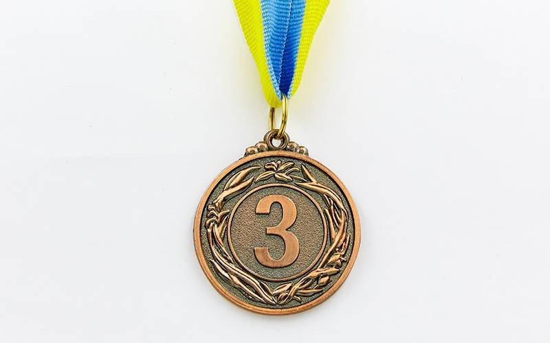 Медаль спортивная с лентой VIGOR d-4,5см. Распродажа! Оптом и в розницу!