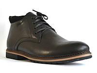 Большой размер. Кожаные зимние мужские ботинки черные Rosso Avangard. Nextgen Black