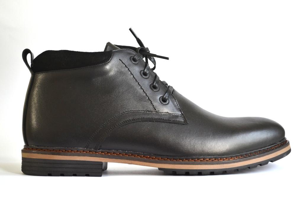 Большой размер кожаные зимние мужские ботинки черные Rosso Avangard BS Nextgen Black