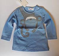 Кофта для малышей С длинным рукавом 2 года Голубой Хлопок 152-043(92) Bubble Турция
