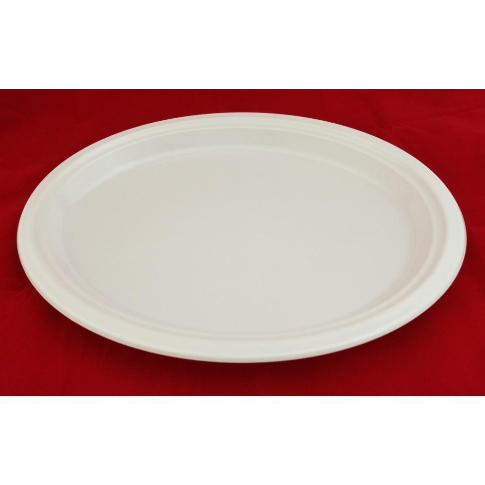 Пластиковая тарелка БЕЛАЯ 26 СМ PREMIUM
