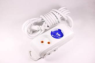 Удлинитель Viko на 2 гнезда без заземления - 3м кабель, 2х1мм, 16А, 3500