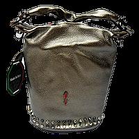 Превосходная женская сумочка из натуральной кожи золотистого цвета GMU-013990, фото 1