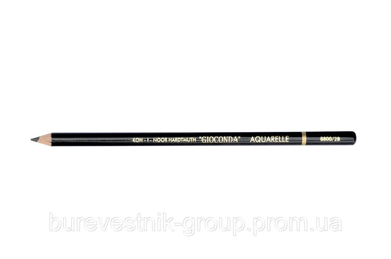 """Художественный графитовый акварельный карандаш Koh-i-Noor """"Gioconda"""" 2В (8800)"""