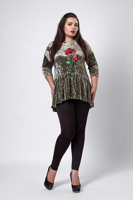 Женская блуза бархат-велюр