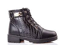 Ботинки- сапоги зимние для девочек. 1643 Black (8 пар,32-37)