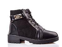 Ботинки- сапоги зимние для девочек. 1643-1 Black (8 пар,32-37)