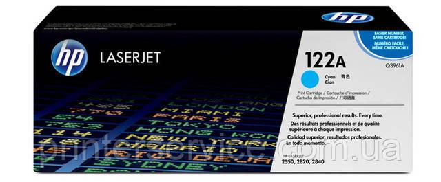 Картридж HP Q3971A (122A) cyan для цветных принтеров HP CLJ 2550, CLJ 2820, CLJ 2840