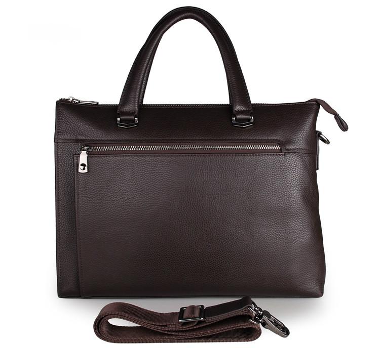 Мужская кожаная сумка John McDee 7314Q темно-коричневая