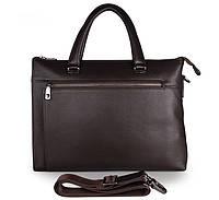 Мужская кожаная сумка John McDee 7314Q темно-коричневая, фото 1