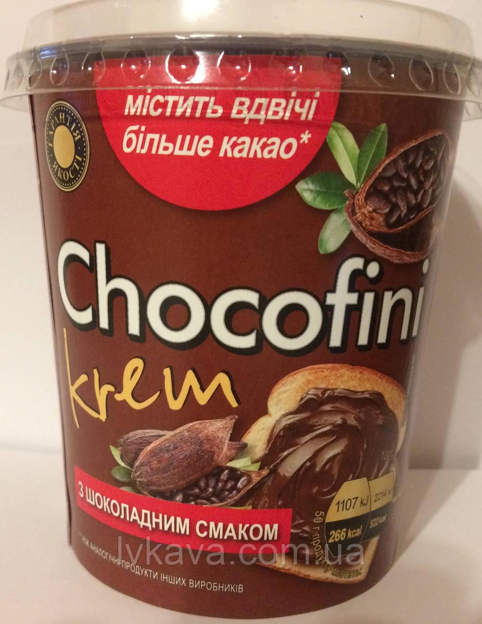 Шоколадный  крем Chocofini с шоколадным вкусом Галицькі традиції, 400 гр