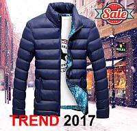 Куртка мужская зимняя осенняя темно синяя 2017 2018
