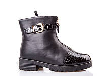 Ботинки- сапоги зимние для девочек. 1646 Black (8 пар,32-37)