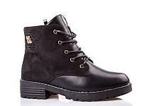 Ботинки- сапоги зимние для девочек. 1647 Black (8 пар,32-37)