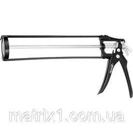"""Пистолет для герметика, 310 мл, """"скелетный"""" усиленный с фиксатором, 6-гранный шток 6 мм// SPARTA"""