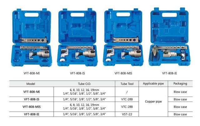 Набор для обработки труб VALUE VFT 808 -IЕ (одна   планка   ,один труборез, вальцовка , разбортовка