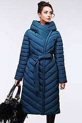 Стеганое длинное пальто приталенного кроя Фелиция, наличие размера уточняйте