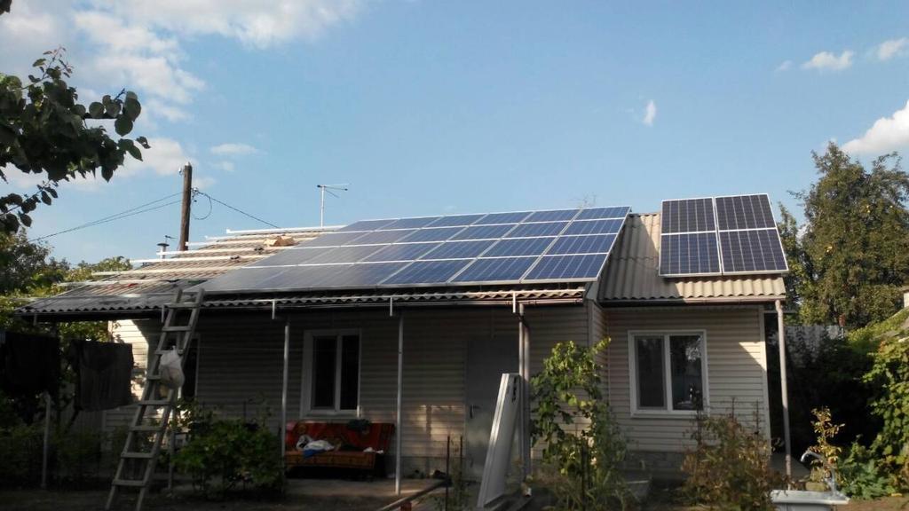 г. Кривой Рог, Днепропетровская обл., сетевая солнечная электростанция 10 кВт SolarEdge