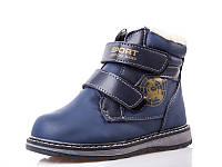 Зимние ботинки детские на мальчика. 1663B Blue (8пар, 27-32