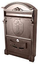 Поштова скринька Vita колір коричневий Герб Лев