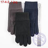 Оптом мужские флисовые перчатки без подкладки - №17-4-2, фото 1
