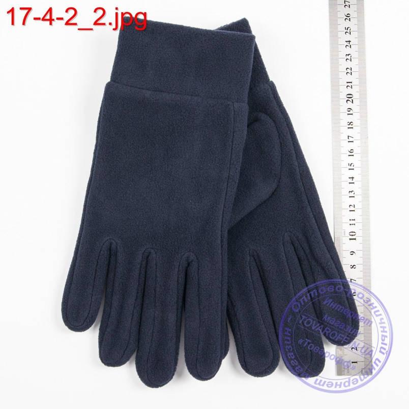 Оптом мужские флисовые перчатки без подкладки - №17-4-2, фото 2
