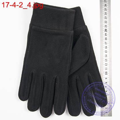 Оптом мужские флисовые перчатки без подкладки - №17-4-2, фото 3