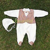 Набор для новорожденного на выписку (человечек+шапочка) Сеньор 1