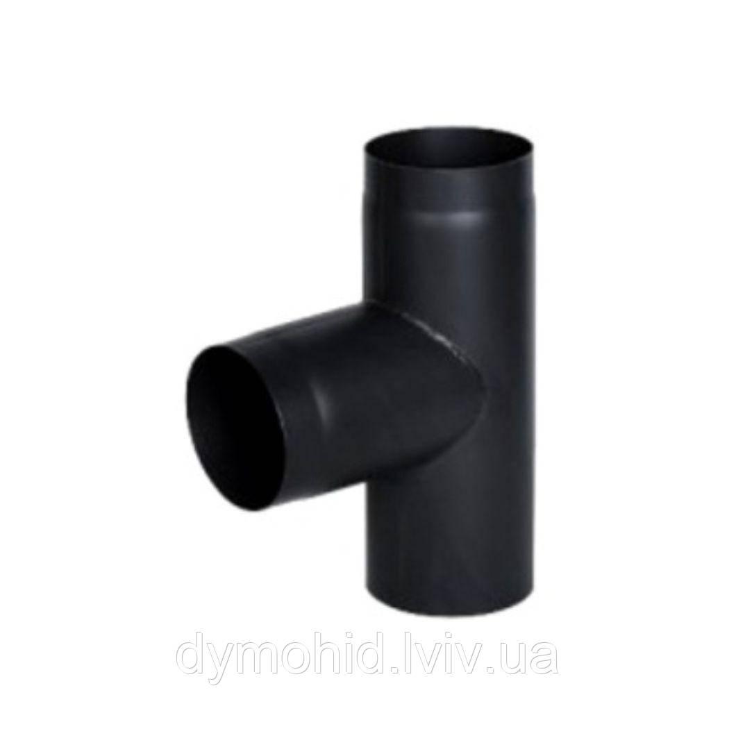 Трійник 90° з чорної сталі ∅130.
