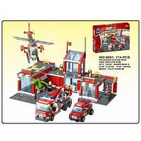 Детский конструктор KAZI 8051 Большая пожарная база, 774 дет., фото 1