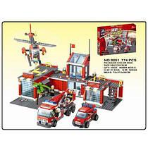 Детский конструктор KAZI 8051 Большая пожарная база, 774 дет.