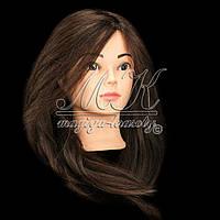 Учебный манекен, 100% натуральных волос,  шатен