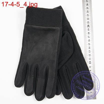 Оптом мужские флисовые перчатки без подкладки - №17-4-5, фото 3