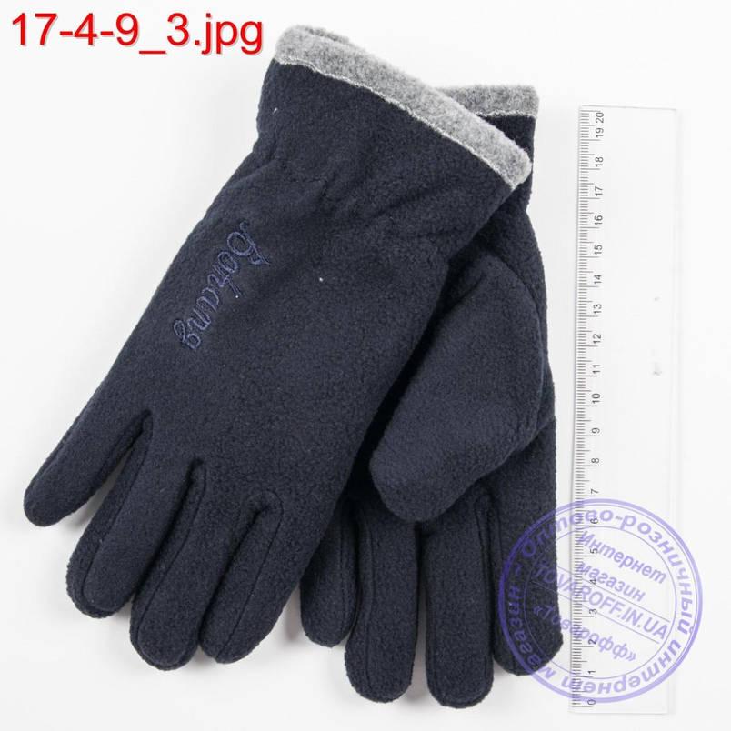 Оптом двойные подростковые флисовые перчатки - №17-4-9, фото 2