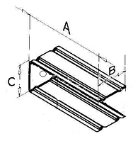 """Кронштейн """"П"""" образный с овальным отверстием 150х50х150х1,5мм"""