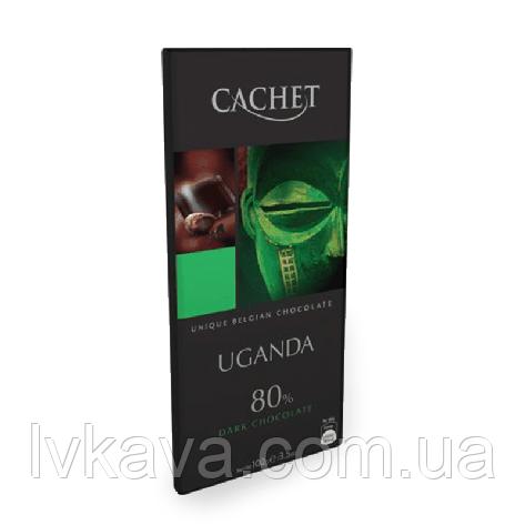 Черный  шоколад Сachet  Uganda 80 % , 100 гр, фото 2