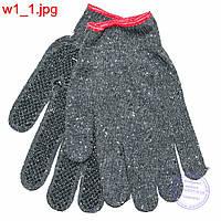 Оптом рабочие перчатки с резиновыми антискользящими крапинками - w1