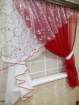 """Кухонные шторы """"Сакура"""" Алая, фото 2"""