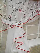 """Кухонные шторы """"Сакура"""" Алая, фото 3"""