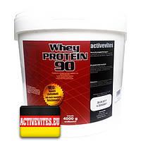 Протеин Activevites WHEY PROTEIN 90 4 кг. (все вкусы)